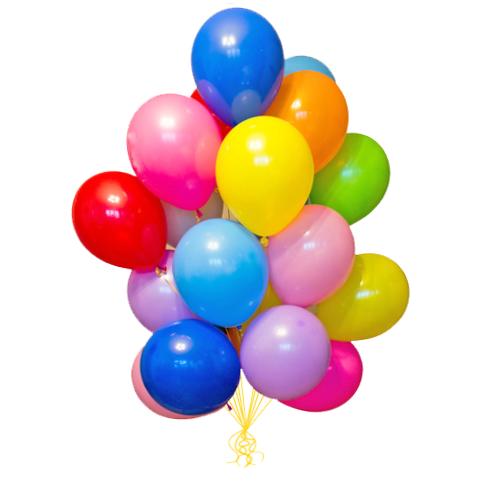Гелиевые шарики пастель